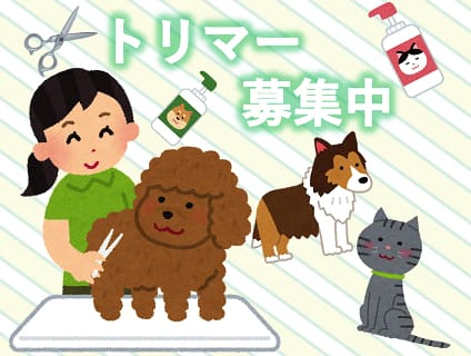 [Puppy Dream]トリマー(パート)大募集中!![東京都江東区]No.314_d画像